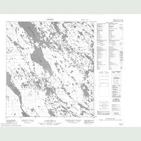 Canadian Topo Map - Map 055L11