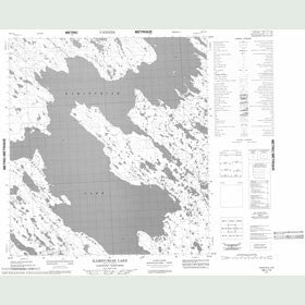 Canadian Topo Map - Kaminuriak Lake - Map 055L13