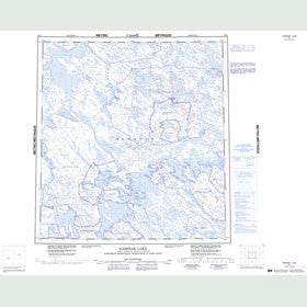 Canadian Topo Map - Kaminak Lake - Map 055L