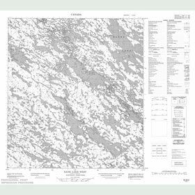Canadian Topo Map - Banks Lake - Map 055M02