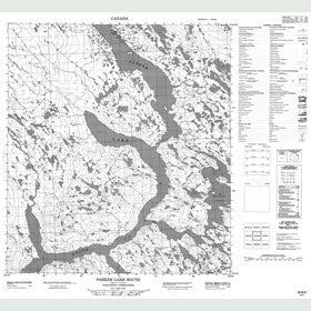 Canadian Topo Map - Parker Lake - Map 055M06