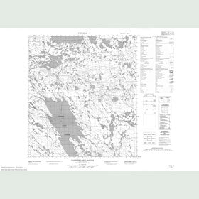 Canadian Topo Map - Parker Lake - Map 055M11