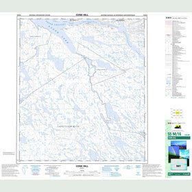 Canadian Topo Map - Cone Hill - Map 055M16