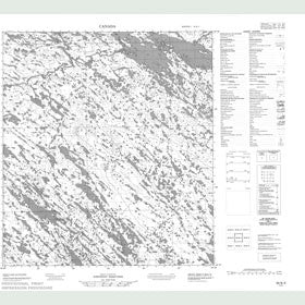 Canadian Topo Map - Map 055N05