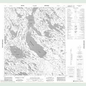 Canadian Topo Map - McManaman Lake - Map 055N08