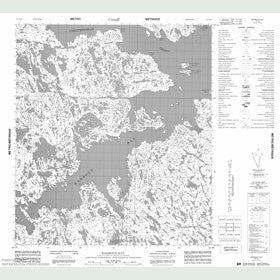 Canadian Topo Map - Barbour Bay - Map 055N09