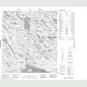 Canadian Topo Map - Map 055N11