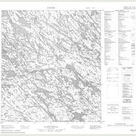 Canadian Topo Map - Map 055N12