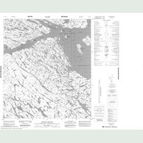 Canadian Topo Map - Round Island - Map 055N13