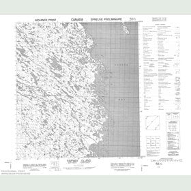 Canadian Topo Map - Fairway Island - Map 055O02
