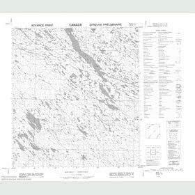 Canadian Topo Map - Map 055O03
