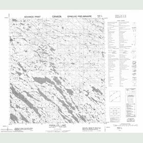 Canadian Topo Map - Parallel Lake - Map 055O04