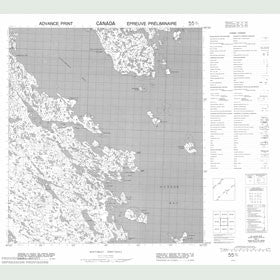 Canadian Topo Map - Rockhouse Island - Map 055O07
