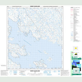 Canadian Topo Map - Merry Headland - Map 055O11