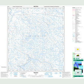 Canadian Topo Map - Map 055O14