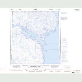 Canadian Topo Map - Chesterfield Inlet - Map 055O