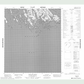 Canadian Topo Map - Poillon Point - Map 055P14