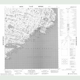 Canadian Topo Map - Whale Point - Map 056A01