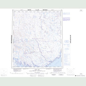 Canadian Topo Map - Daly Bay - Map 056A