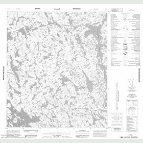 Canadian Topo Map - Map 056B07