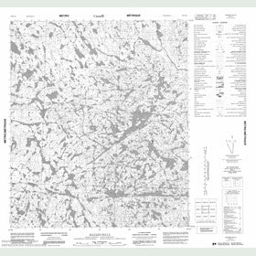 Canadian Topo Map - Hazard Hills - Map 056B10