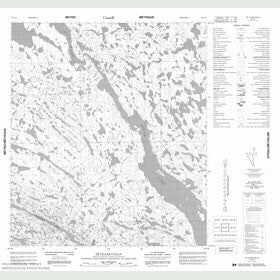 Canadian Topo Map - St. Clair Falls - Map 056C04