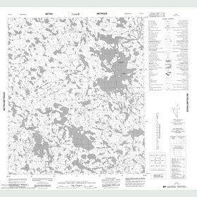 Canadian Topo Map - Tehery Lake - Map 056C06