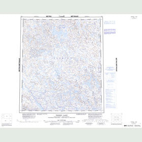 Canadian Topo Map - Tehery Lake - Map 056C