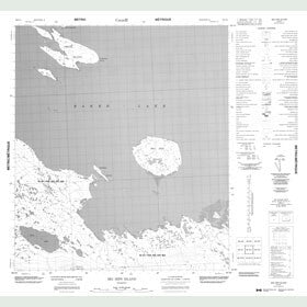 Canadian Topo Map - Big Hips Island - Map 056D04