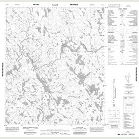 Canadian Topo Map - Map 056E01