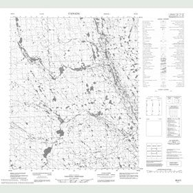 Canadian Topo Map - Map 056H03