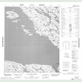 Canadian Topo Map - Nuvudlik Island - Map 056H08