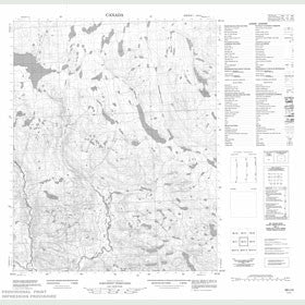 Canadian Topo Map - Map 056I04