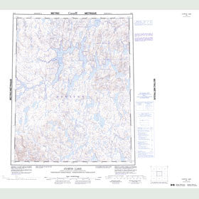 Canadian Topo Map - Curtis Lake - Map 056I