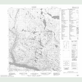 Canadian Topo Map - Map 056J01
