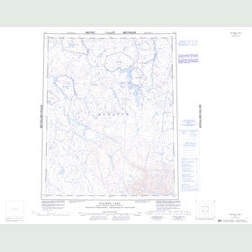 Canadian Topo Map - Walker Lake - Map 056J