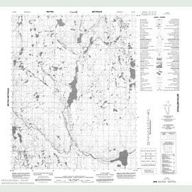 Canadian Topo Map - Map 056K08