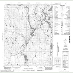 Canadian Topo Map - Map 056K15