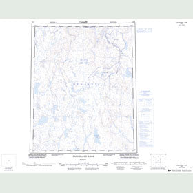 Canadian Topo Map - Laughland Lake - Map 056K