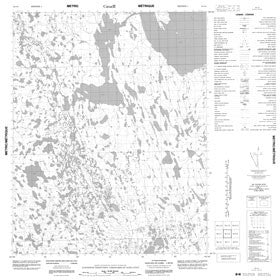 Canadian Topo Map - Map 056L08