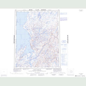 Canadian Topo Map - Cape Barclay - Map 056M