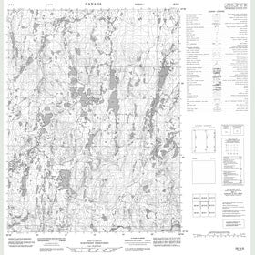 Canadian Topo Map - Map 056N08