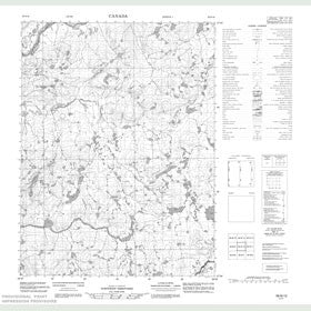 Canadian Topo Map - Map 056N12