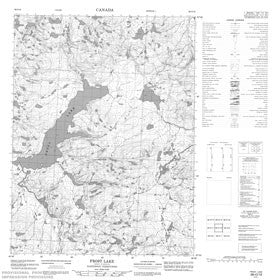 Canadian Topo Map - Frost Lake - Map 056O10