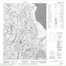 Canadian Topo Map - Cape Weynton - Map 056P09