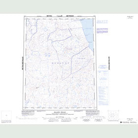 Canadian Topo Map - Ellice Hills - Map 056P