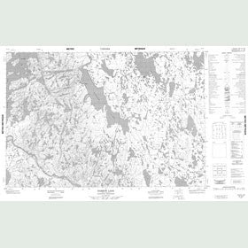 Canadian Topo Map - Barrow Lake - Map 057A07