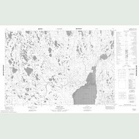 Canadian Topo Map - Keith Bay - Map 057A08