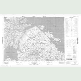 Canadian Topo Map - Sagvak Inlet - Map 057C09
