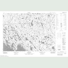 Canadian Topo Map - Oscar Bay - Map 057C13